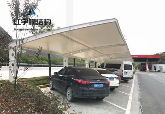 膜结构停车棚案例