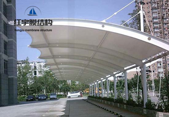 膜结构汽车棚案例