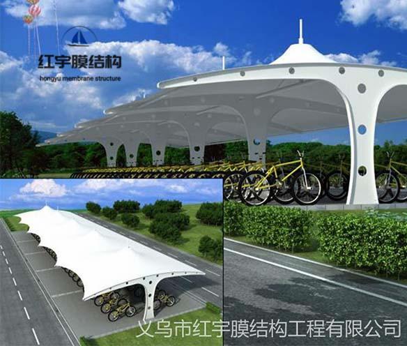 电动自行车棚膜结构