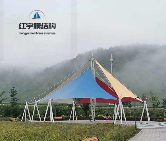 膜结构户外景观艺术棚